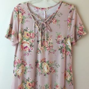 Dresses & Skirts - Women's Floral Dress With Pockets